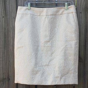NWOT Loft Gold and Ivory Skirt with Pockets